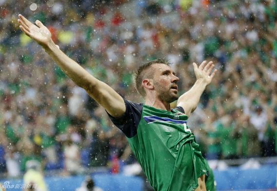 北爱尔兰取患了在欧洲杯上的首场成功