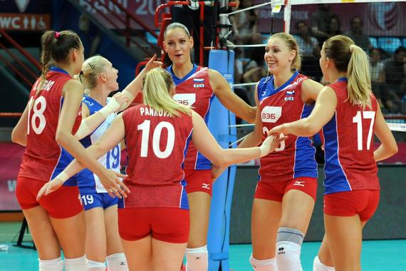 俄罗斯女排获得5连胜