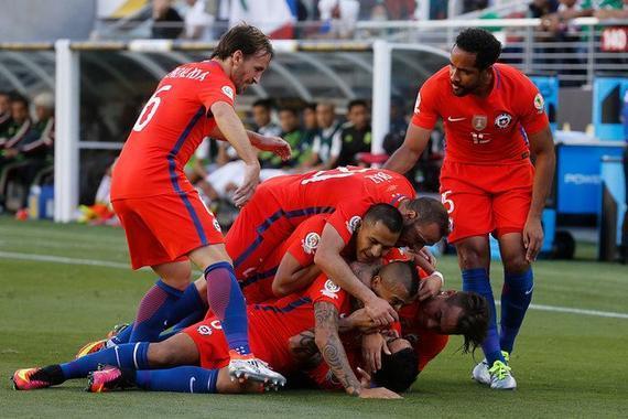 智利7-0大胜墨西哥进四强