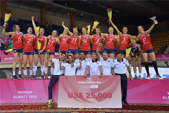 克罗地亚女排夺冠