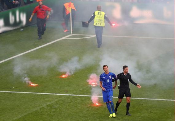 克罗地亚极端球迷频繁制造事端