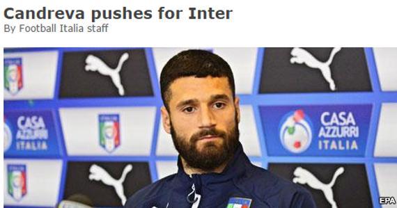 坎德雷瓦只想加盟国际米兰?