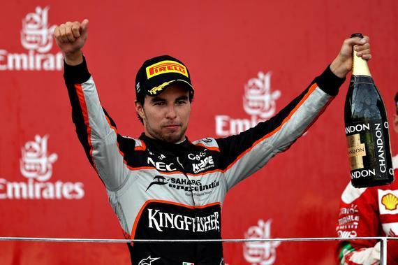 佩雷兹本赛季第二次登上领奖台