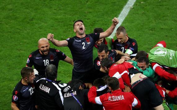 阿尔巴尼亚夺得欧洲杯历史性首胜