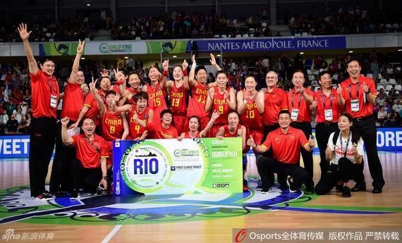 中国女篮在落选赛上获得了进军里约的门票