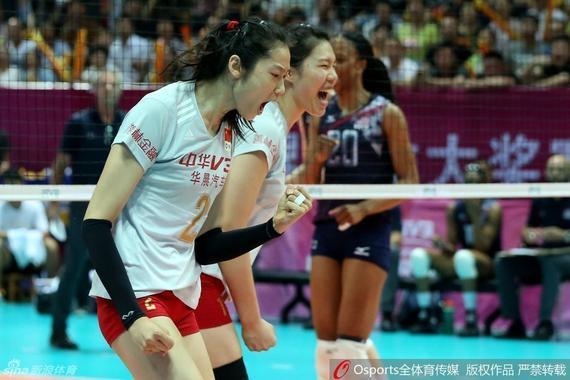 宁波站中国女排3-1力克美国