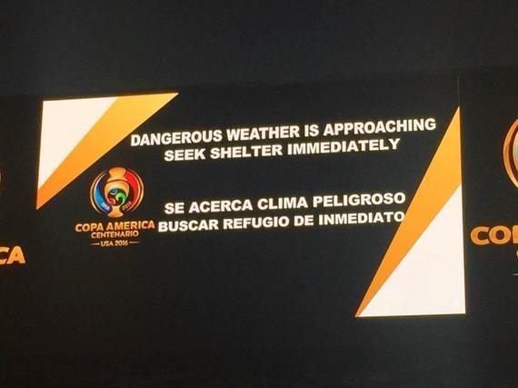 美洲杯比赛因恶劣天气延迟近3小时