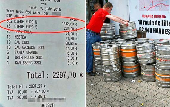 几名英格兰球迷一夜狂饮300多瓶啤酒