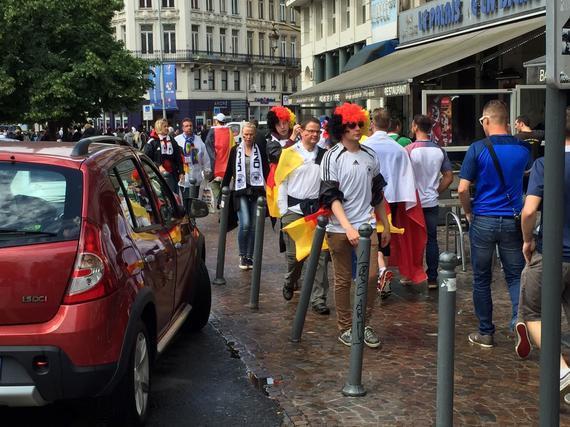 里尔街头的德国球迷