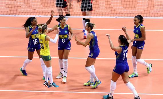 巴西女排获得胜利