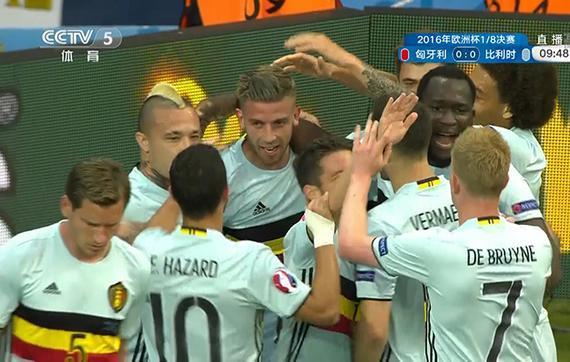 比利时庆祝进球