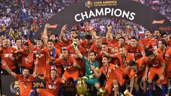 智利夺得冠军