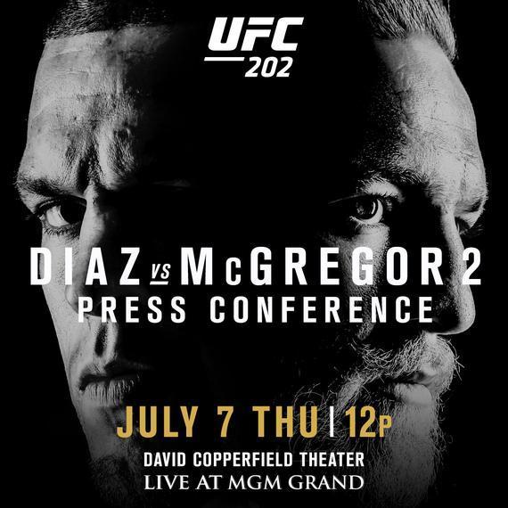 迪亚兹VS康纳二番战新闻发布会将在国际格斗周举行