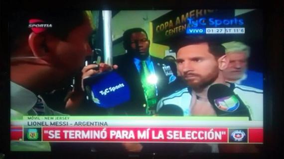 梅西宣布退出国家队