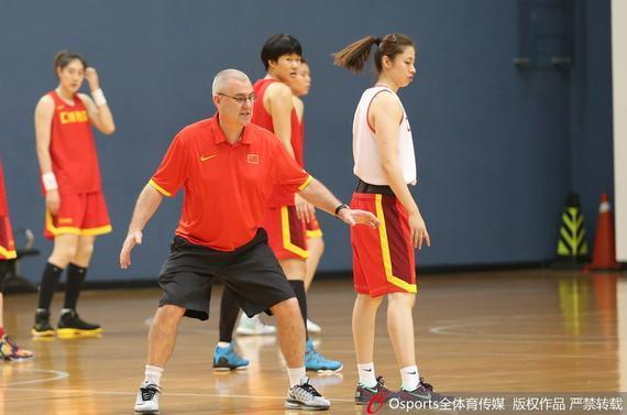 国家女篮锻炼备战