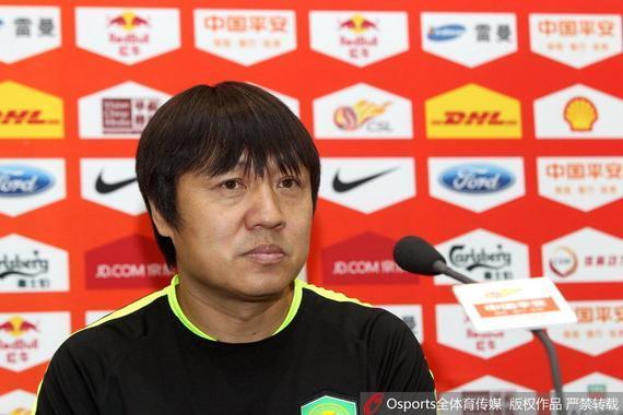 国安锻练组组长谢峰列席赛前公布会