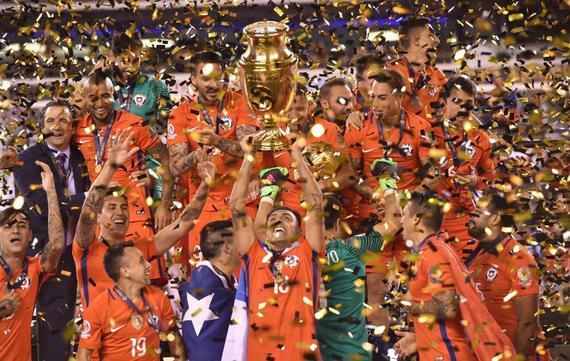 智利已经获得美洲杯冠军