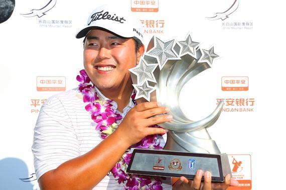 金兑祐成为中国美巡赛第三位韩国冠军