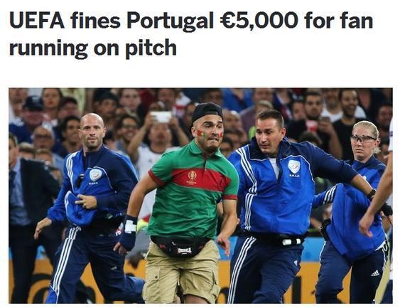 葡萄牙被罚款