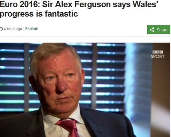 弗格森接受BBC采访大赞威尔士