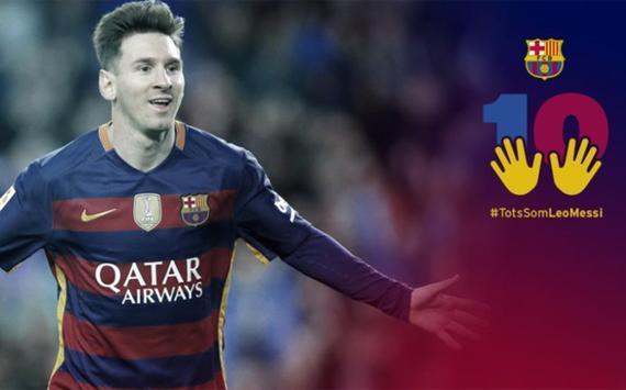 巴萨俱乐部组织球迷支持梅西