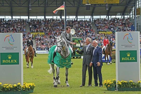 新科劳力士大奖赛冠军 德国骑手菲利普-维斯浩普特