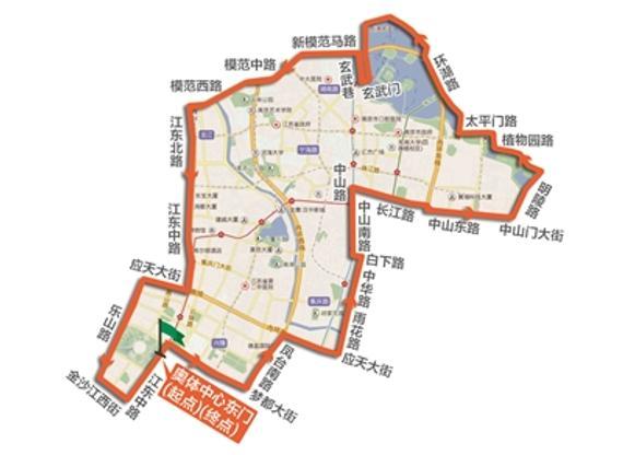 新街口,总统府,中山门,紫金山,太平门,玄武湖等众多南京的著名景点和