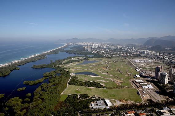里约奥运会高尔夫球场俯瞰图