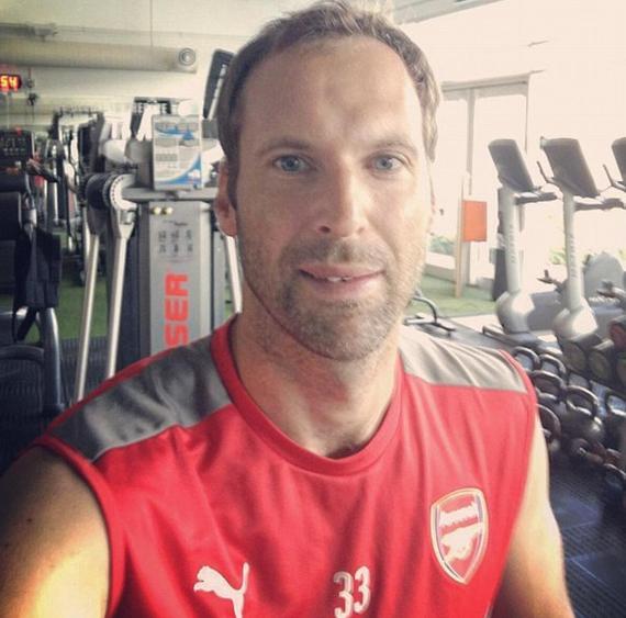 切赫在健身房