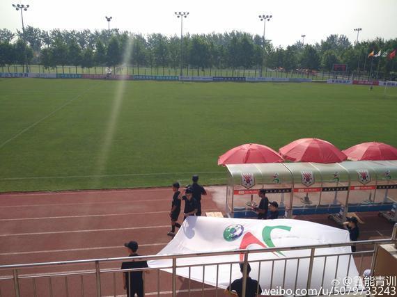 比赛场地(图片来自@鲁能青训)