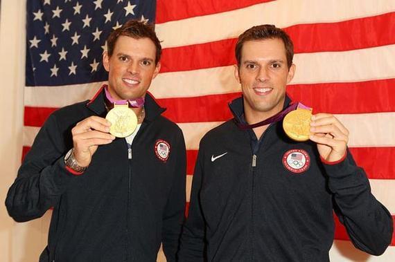 布莱恩兄弟在伦敦奥运会夺冠