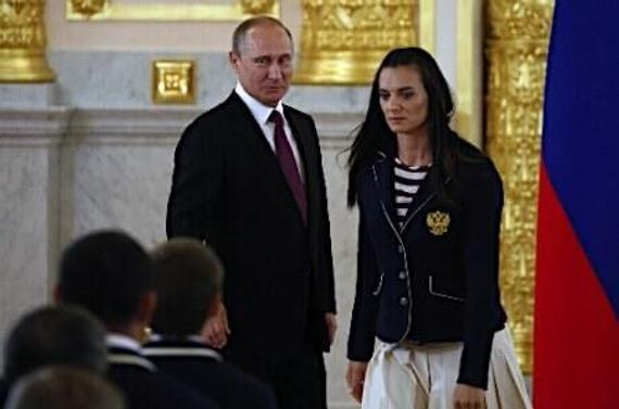 伊辛巴耶娃与普京