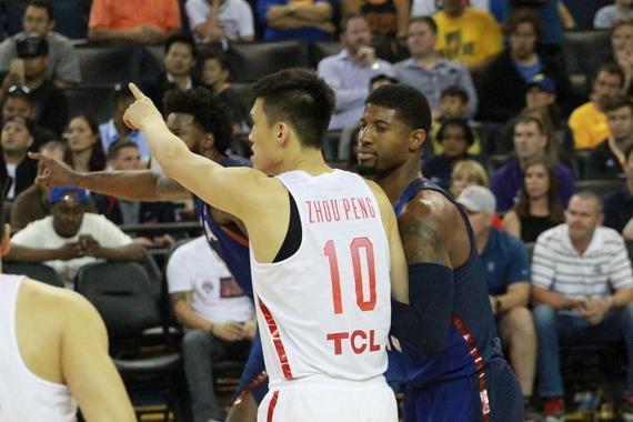 中国男篮与美国第二场比赛中取得了进步