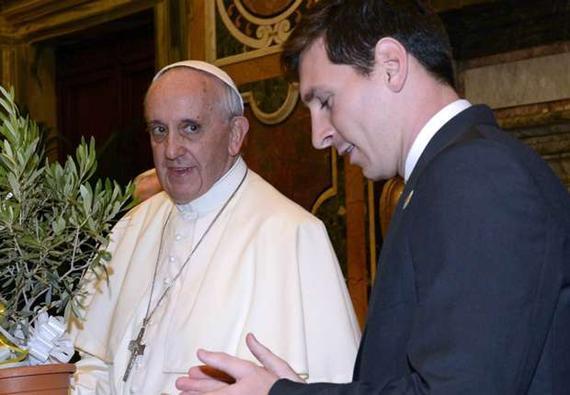 教皇表示梅西是史上最佳球员