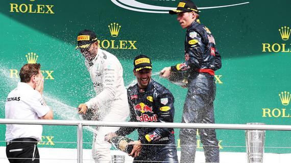 F1德国站颁奖仪式