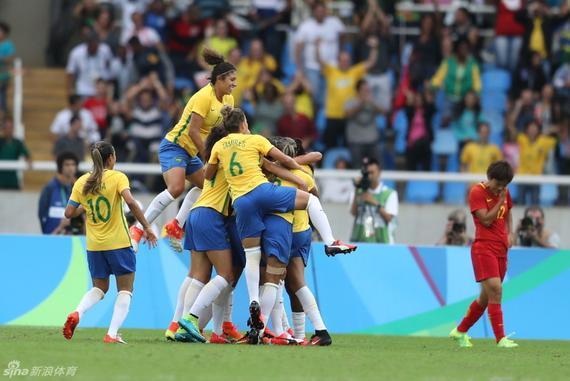 中国女足奥运揭幕战不敌巴西
