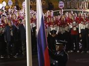 俄代表团里约升旗 茹科夫:希望不是最后一次升起