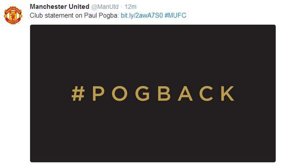 曼联官方宣布博格巴回归
