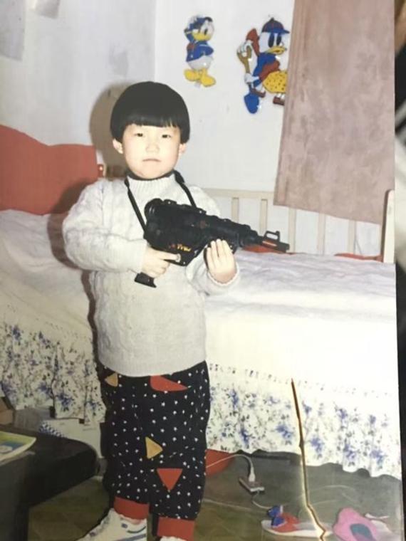 张梦雪小时候