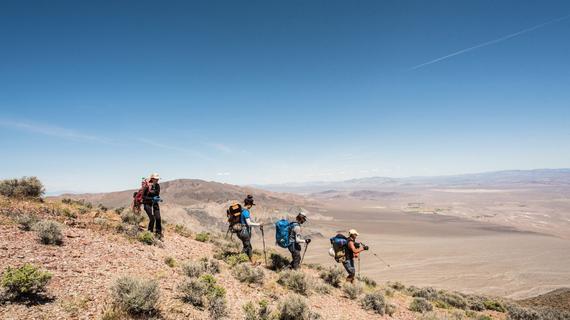 2016年5月3日 一行人正在接近葬礼山中的独眼巨人峡谷的顶端