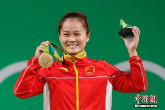 邓薇破纪录夺金牌 举重女子63kg级 邓薇破世界纪录勇夺金牌