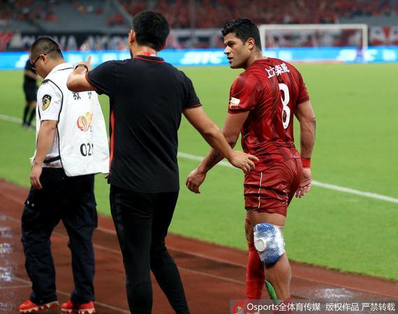 自7月10日中超首秀因伤退赛后,浩克一直未能重返赛场