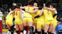 中国女排庆祝夺冠