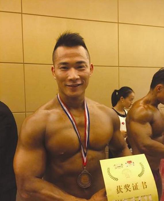 蒙军在深圳健美大赛获得第四名