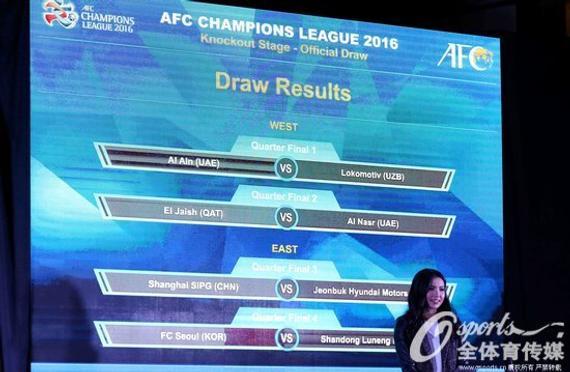 亚冠1/4决赛首回合比赛即将打响
