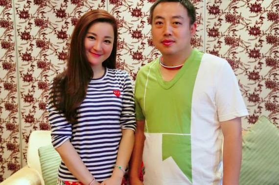 刘国梁与笔者合影