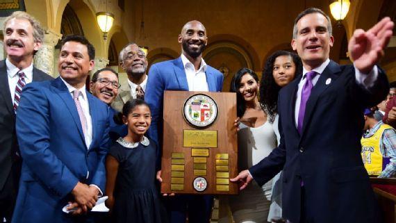 洛杉矶市长感谢科比的付出