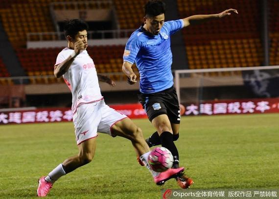 2016中甲第24轮:大连超越2-2浙江毅腾