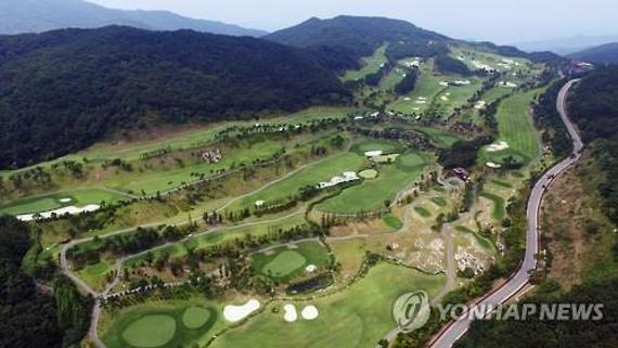 星州高尔夫球场(图片来源:韩联社)