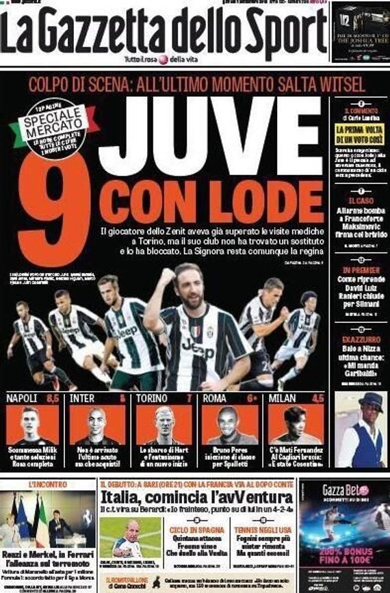 《米兰体育报》封面